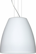 Besa 1KG-BELL2007-LED-SN Bella Modern Satin Nickel Opal Matte LED 20  Pendant Light