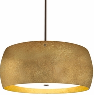 Besa 1KT-POGOGG-LED-BR Pogo Contemporary Bronze Gold/Inner Gold Foil LED Drop Lighting