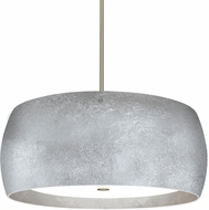 Besa 1KT-POGOSS-LED-SN Pogo Modern Satin Nickel Silver/Inner Silver Foil LED Ceiling Pendant Light