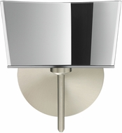 Besa 1SW-6773MR-SN Groove Modern Satin Nickel Wall Sconce Lighting