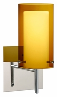 Besa 1SW-G44007 Pahu 4 Armagnac Glass Contemporary Wall Light Sconce - 10 Inches Tall