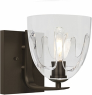 Besa 1WC-PHAN6CL-BR Phantom 6 Bronze Wall Light Fixture