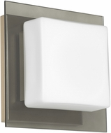 Besa 1WS-7735SM-LED-SN Alex Modern Satin Nickel Opal/Smoke LED Wall Lamp