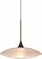 Besa 1XT-6294GD-LED-BR Spazio Modern Bronze LED Mini Drop Lighting Fixture