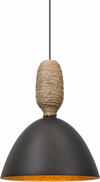 Besa 1XT-CREED-LED-BR Creed Contemporary Bronze LED Mini Pendant Lighting