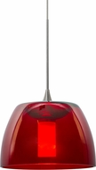 Besa 1XT-SPURRD-LED-SN Spur Modern Satin Nickel LED Mini Pendant Lamp
