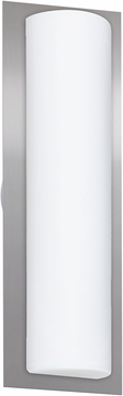 Besa 2NW-BARC18-SL Barclay Contemporary White Opal Matte Outdoor Lamp Sconce