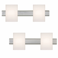 Besa 2SW-TITO07 Tito Contemporary Opal Matte 2-Light Bathroom Lighting