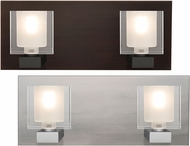 Besa 2WF-BOLOFR Bolo Contemporary Clear/Frost 2-Light Bath Lighting