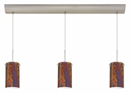 Besa 3BV-4404 Stilo 7 Linear 3 Lamp Multi Pendant With Glass Options