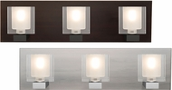 Besa 3WF-BOLOFR Bolo Modern Clear/Frost 3-Light Vanity Lighting