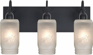 Besa 3WG-MILO4WF-BK Milo Black 3-Light Vanity Lighting