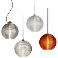 Besa 4616 Kristall Modern 7.4  Tall Mini Hanging Pendant Light
