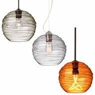 Besa 4627 Wave Contemporary 10  Wide Mini Hanging Lamp