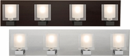 Besa 4WF-BOLOFR Bolo Modern Clear/Frost 4-Light Bath Light Fixture