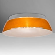 Besa 9662GDC Pica Contemporary Gold Sand 20  Flush Mount Lighting