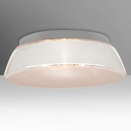 Besa 9663WHC-LED Pica Modern White Sand LED 17  Ceiling Light Fixture