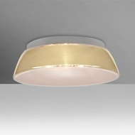 Besa 9664CRC Pica Contemporary Creme Sand 14  Flush Lighting