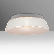 Besa 9664WHC Pica Contemporary White Sand 14  Flush Mount Ceiling Light Fixture