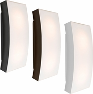 Besa BILLOW15 Billow Contemporary Opal/Black Exterior Lamp Sconce