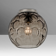 Besa BOMBAYSMC-SN Bombay Contemporary Satin Nickel Smoke Ceiling Lighting