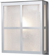 Besa BREE11-GL-SL Bree Contemporary Silver Glitter Outdoor Wall Sconce Light