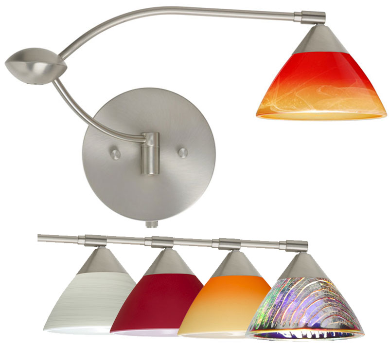 Besa Domi Double Swing Arm Wall Lamp With Multiple Gl Options Bes Domiswingarm