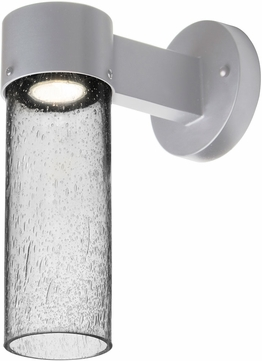 Besa JUNI10CL-WALL-LED-SL Juni Contemporary Silver Clear Bubble LED Exterior Wall Sconce Lighting