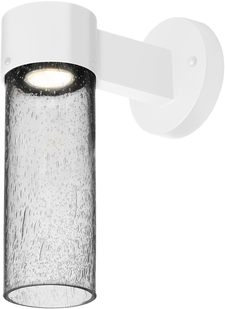 Besa Juni10cl Wall Led Wh Juni Modern White Clear Bubble Led Outdoor Wall Light Fixture