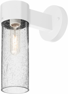 Besa JUNI10CL-WALL-WH Juni Modern White Clear Bubble Outdoor Wall Lighting Sconce