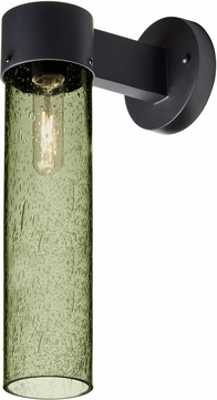 Besa JUNI16MS-WALL-BK Juni Contemporary Black Moss Bubble Outdoor 16  Lamp Sconce