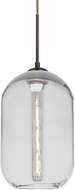 Besa Lighting 1JT-OMEGA12CL-EDIL-BR Omega Contemporary Bronze Mini Lighting Pendant