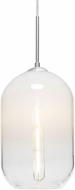Besa Lighting 1JT-OMEGA12WH-EDIL-SN Omega Modern Satin Nickel Mini Hanging Light