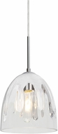 Besa Lighting 1JT-PHAN6WH-SN Phantom Modern Satin Nickel Mini Pendant Lighting Fixture