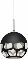 Besa Lighting 1JT-ROCKYBK-LED-SN Rocky Contemporary Satin Nickel LED Mini Pendant Hanging Light