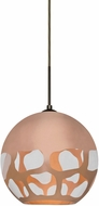 Besa Lighting 1JT-ROCKYCP-LED-BR Rocky Modern Bronze LED Mini Hanging Light Fixture