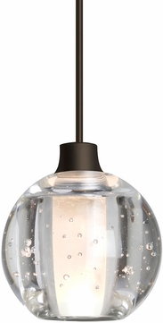 Besa Lighting 1XT-BOCA5BB-LED-BR Boca Contemporary Bronze LED Mini Pendant Light