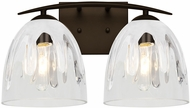 Besa Lighting 2WC-PHAN6WC-BR Phantom Modern Bronze 2-Light Bath Lighting