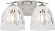 Besa Lighting 2WC-PHAN6WC-SN Phantom Contemporary Satin Nickel 2-Light Bathroom Light