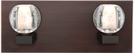 Besa Lighting 2WF-BOCABB-LED-BR Boca Modern Bronze LED 2-Light Bathroom Lighting Fixture