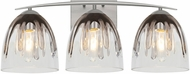 Besa Lighting 3WC-PHAN6SC-SN Phantom Contemporary Satin Nickel 3-Light Bath Light Fixture