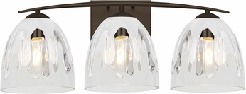 Besa Lighting 3WC-PHAN6WC-BR Phantom Modern Bronze 3-Light Bath Lighting Fixture