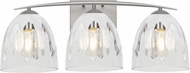 Besa Lighting 3WC-PHAN6WC-SN Phantom Contemporary Satin Nickel 3-Light Bathroom Light Fixture