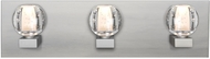 Besa Lighting 3WF-BOCABB-LED-SN Boca Contemporary Satin Nickel LED 4-Light Bathroom Vanity Light