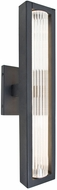 Besa Lighting EDGE17-LED-BK Edge Modern Black LED Outdoor 17  Wall Sconce Lighting