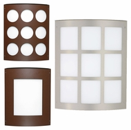 Besa Moto 13 Large Interior/Exterior Wall Sconce with Grid, Square, or Circle Design