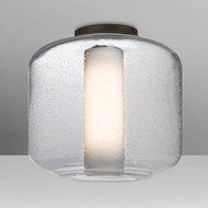 Besa NILES10COC-BR Niles Contemporary Bronze Clear Bubble/Opal Ceiling Lighting