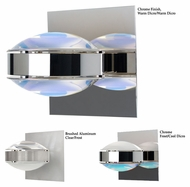 Besa Optos Modern 5 Inch Tall Halogen Wall Sconce With Colored Lens Options
