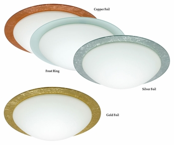 Besa Ring Flush Mount Transitional 19 Inch Diameter Overhead Lighting - Large