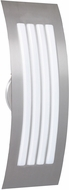 Besa SAIL17SW-SL Sail Modern Silver Satin White Outdoor Wall Sconce Lighting